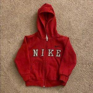 Nike toddler zip-up sweater